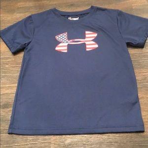 Under armor patriotic navy blue shirt